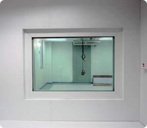 Blindagem da sala de radiologia